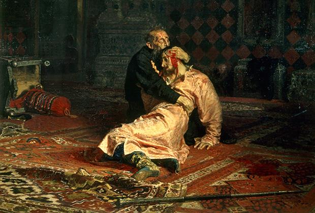 Фрагмент картины И. Репина «Иван Грозный и сын его Иван»