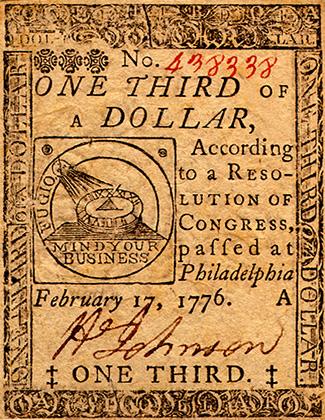 На заре существования США доллары выглядели совсем не так, как сегодня
