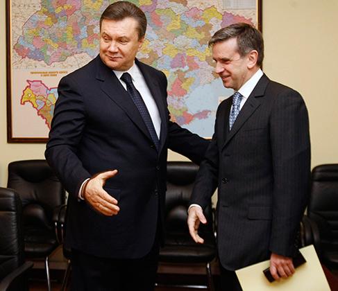 Встреча в 2010 году Зурабова и кандидата в президенты Украины Виктора Януковича