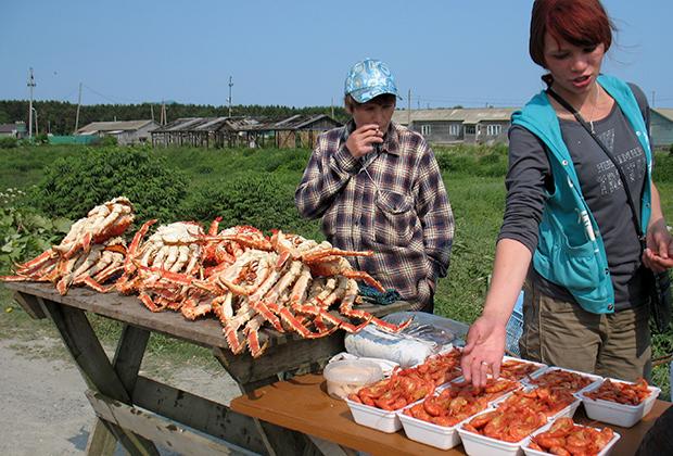 Сахалин. Дикий рынок морепродуктов