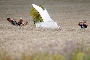 Место крушения малайзийского рейса MH17, Украина