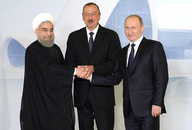 Хасан Рухани, Ильхам Алиев и Владимир Путин