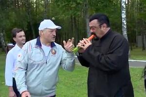 Александр Лукашенко и Стивен Сигал