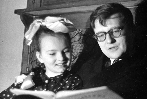 Дмитрий Дмитриевич Шостакович с дочерью