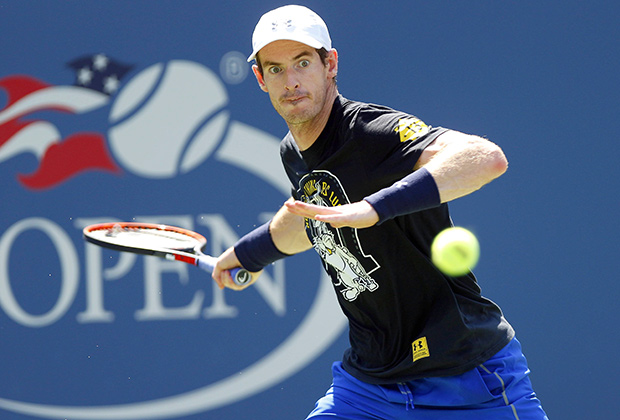 Andy Murray of Great Britain in action during practice ahead of the US Open 2016 at the Billie Jean King Tennis Centre, Queens, New York on the 27th August 2016