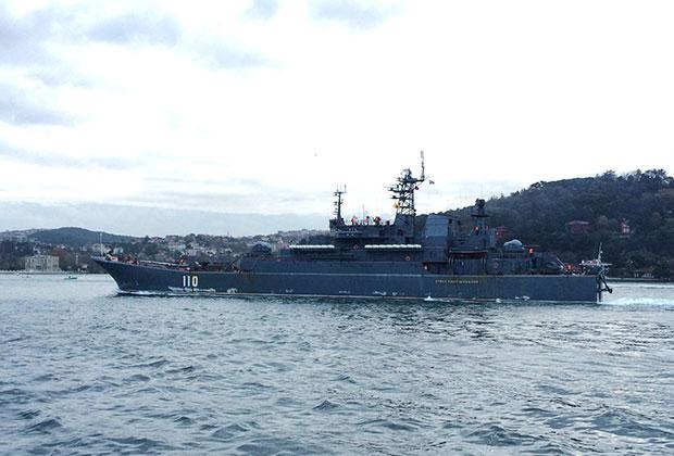 "БДК ""Александр Шабалин"" в проливе Босфор"