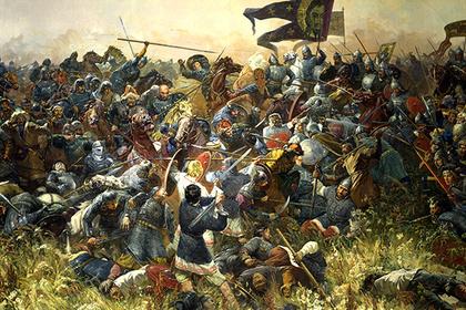 Репродукция картины Сергея Присекина «Куликовская битва»