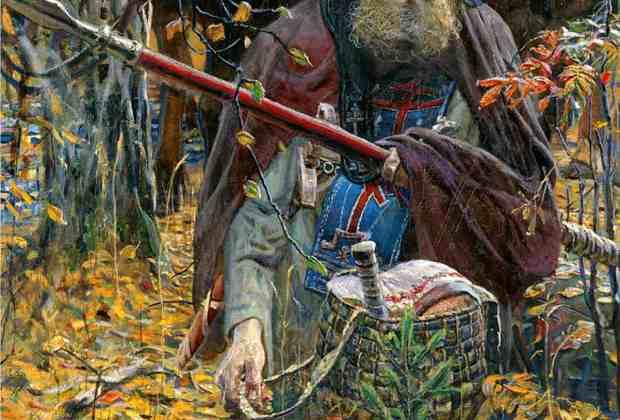 Репродукция картины Павла Рыженко «Молитва Пересвета перед битвой»