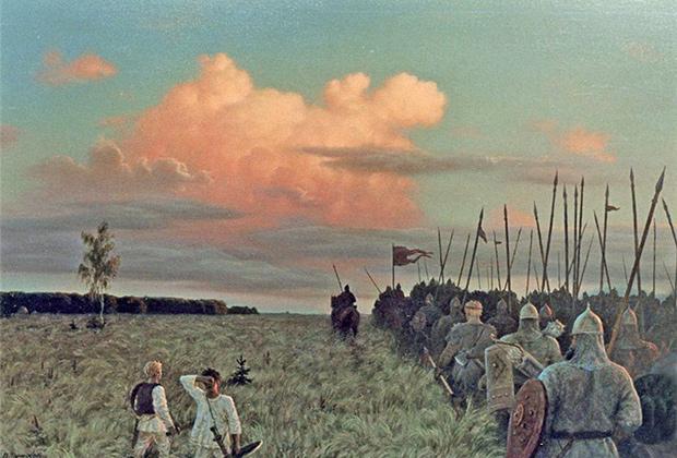 Репродукция картины Виктора Тормосова «На защиту Руси»