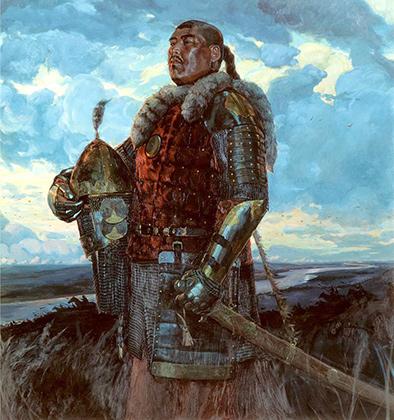 Репродукция картины Виктора  Маторина «Хан Мамай»