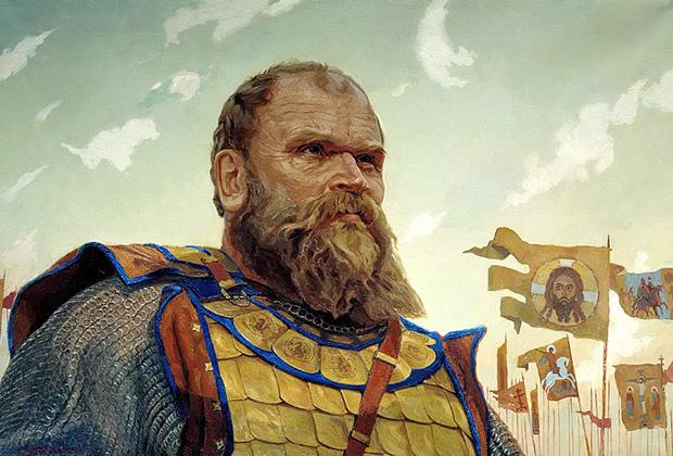 Репродукция картины Виктора Маторина «Герой Куликовской битвы. Боброк Волынский»