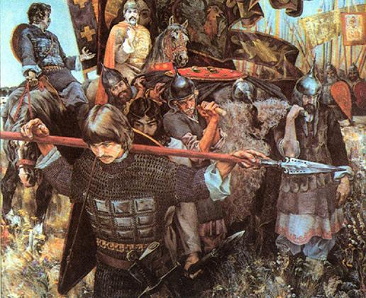 Репродукция картины Сергея Присекина «С победой»