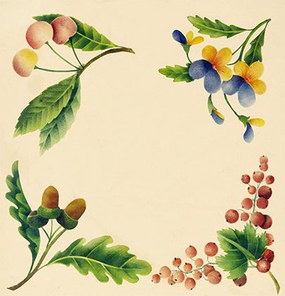 Растительный орнамент, выполненный Каспаром