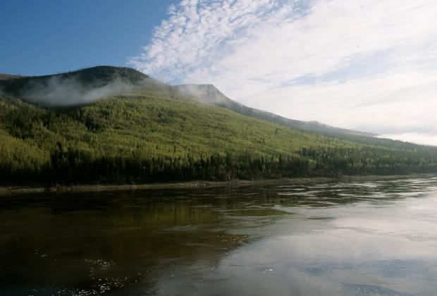 Река Нижняя Тунгуска, правый приток Енисея. Красноярский край.