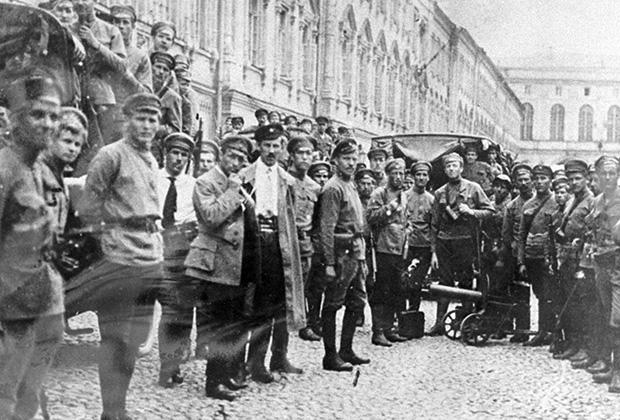 Латышские стрелки в Москве, 1918 год