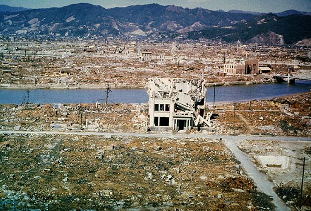 Развалины Хиросимы. Март 1946 года
