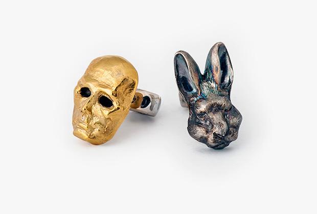 Серьги «Как объяснять искусство мертвому зайцу»
