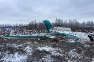Место крушения Ми-8