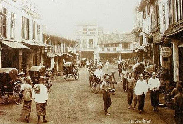 Городская улица в Китае 19 века