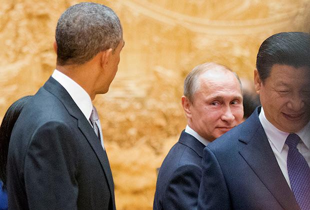 На саммите АТЭС в Пекине президенты России и США общались урывками и не более получаса, 2014 год