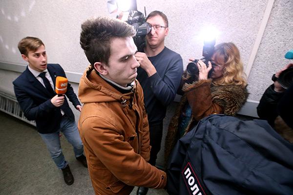 Филипп Будейкин после ареста в Октябрьском суде