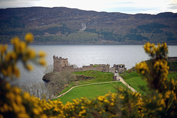 INVERNESS, SCOTLAND - APRIL 16:  A general view of Urquhart Castle, Drumnadrochit on April 16, 2014 in Scotland. A referendum on whether Scotland should be an independent country will take place on September 18, 2014.  (Photo by