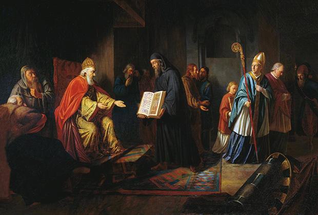 И. Эггинк. Великий князь Владимир избирает религию
