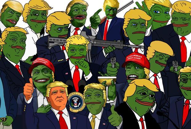 Дональд Трамп в образе лягушонка Пепе