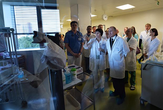 Владимир Путин в гематологическом центре имени Димы Рогачева