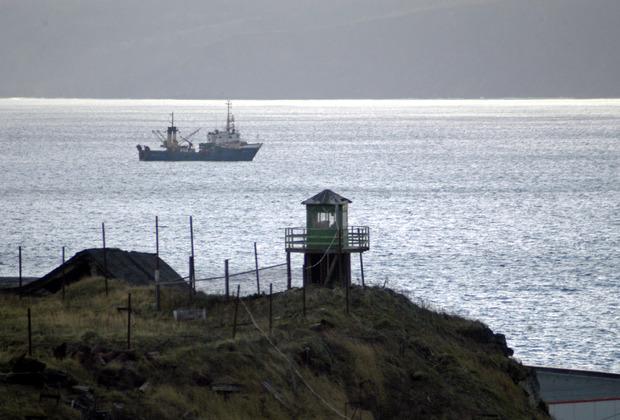 Башня российских пограничников на острове Кунашир