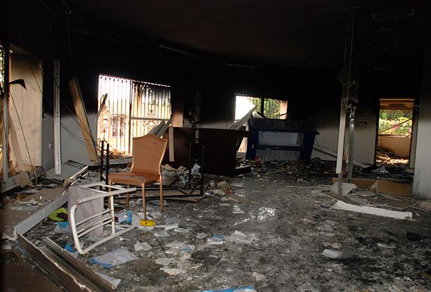 Разгромленное консульство США в Бенгази
