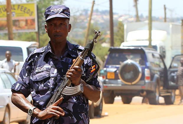 Угандийский полицейский