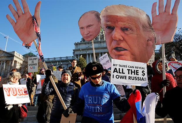 Демонстрация противников Дональда Трампа