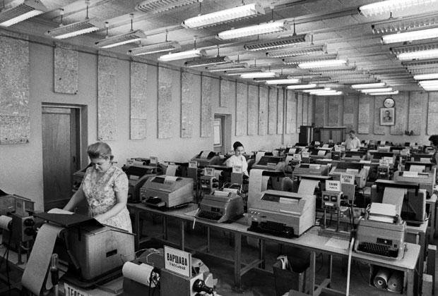 1972 год, в одном из телетайпных залов ТАСС