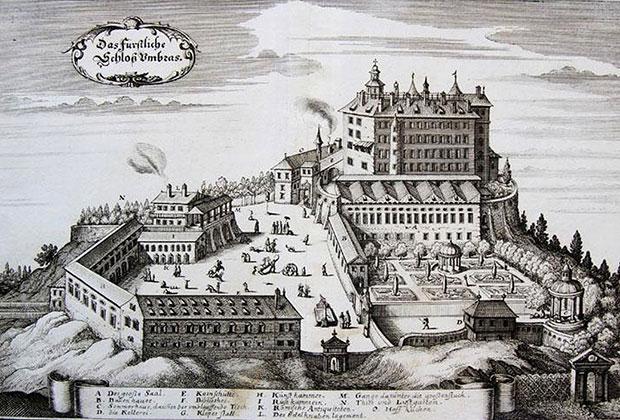 Вид замка в Тироле