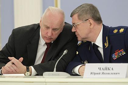 Александр Бастрыкин и Юрий Чайка
