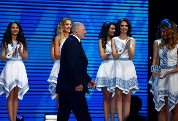Президент Белоруссии ежегодно посещает республиканский конкурс красоты