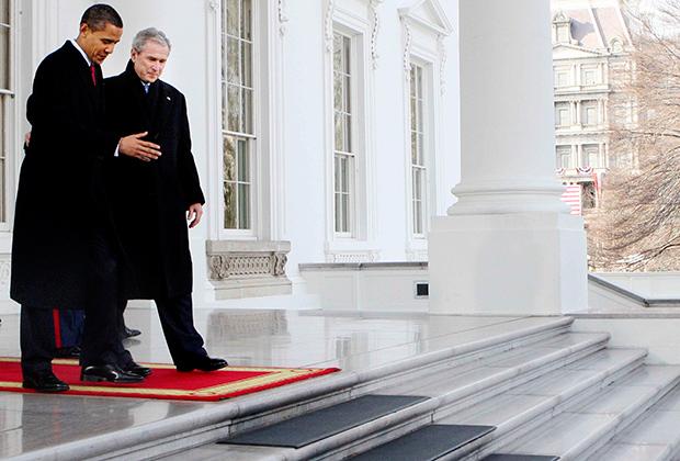 Барак Обама и Джордж Буш-младший