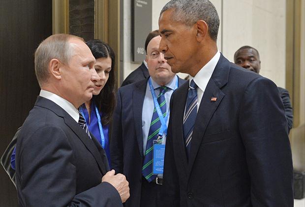 Владимир Путин и Барак Обама на саммите G20 в Ханчжоу. 5 сентября 2016