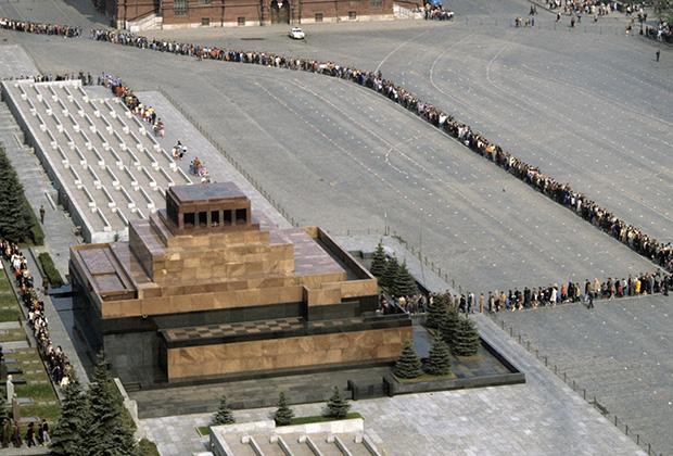 Мавзолей Ленина с высоты