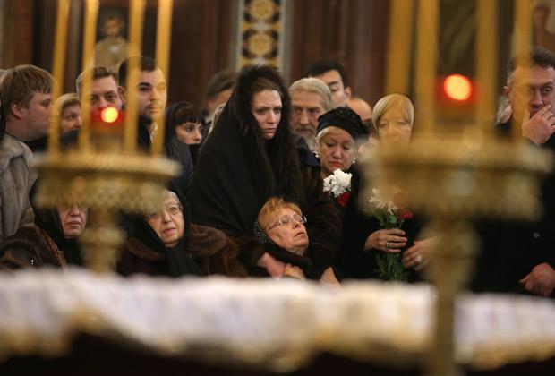 Отпевание убитого посла РФ в Турции Андрея Карлова в храме Христа Спасителя