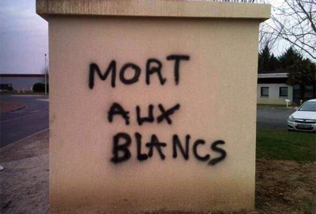 Надпись «Смерть белым»