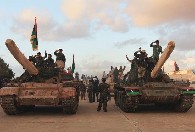 Танки Ливийской национальной армии