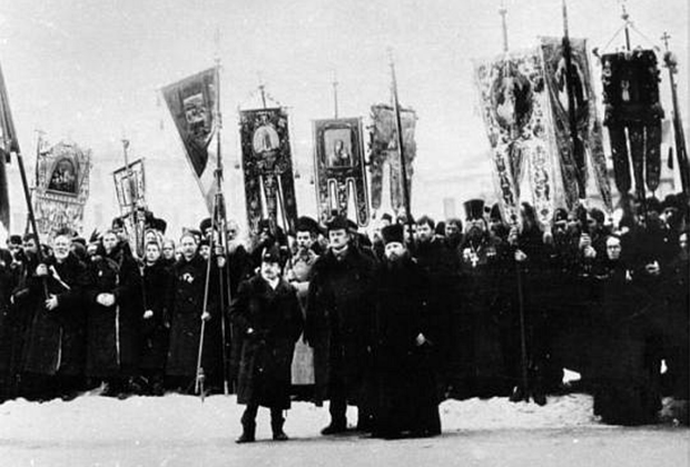 Крестный ход, организованный «Союзом Михаила Архангела»