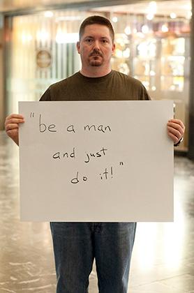 Слова насильника: «Будь мужчиной и просто сделай это»