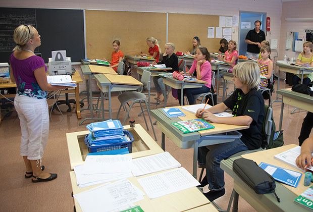 Финляндия, Турку. Урок английского языка в школе Waeinoe Aaltosen
