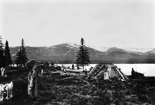 Стойбище саамов, конец XIX века