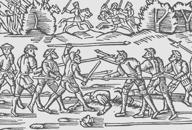 Сражение на Севере. Рисунок из книги «История Северных народов»
