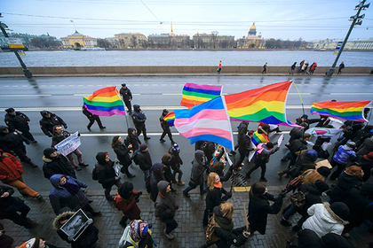 St. Petersburg. March against hatred. Participants of March against hatred