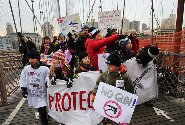 Марш организации «Миллион мам» в Нью-Йорке